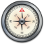 IPhone-Compass-Silver icon