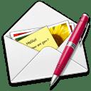 Letter pen icon