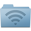 AirPort Folder Blue icon