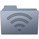 AirPort Folder Graphite icon