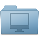 Computer Folder Blue icon
