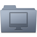 Computer-Folder-Graphite icon
