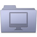 Computer-Folder-Lavender icon