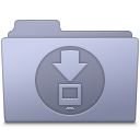 Downloads Folder Lavender icon