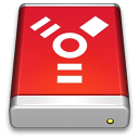 Firewire Drive Red icon