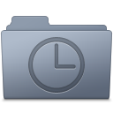 History Folder Graphite icon