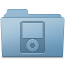 IPod Folder Blue icon