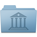 Library Folder Blue icon