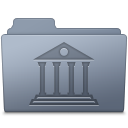 Library Folder Graphite icon