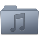 Music Folder Graphite icon