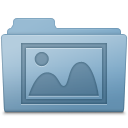 Photo Folder Blue icon