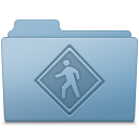 Public Folder Blue icon