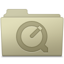 QuickTime Folder Ash icon