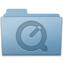 QuickTime Folder Blue icon