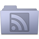 RSS Folder Lavender icon