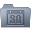 Schedule Folder Graphite icon