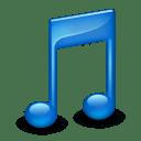 Sidebar Music Blue icon