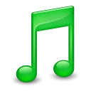 Sidebar Music Green icon