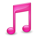 Sidebar Music Pink icon