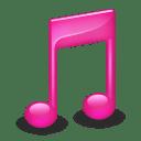 Sidebar Music Pink icon