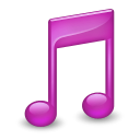 Sidebar Music Purple icon