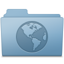 Sites Folder Blue icon