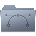 Vector Folder Graphite icon