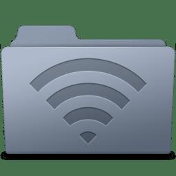 AirPort Folder Graphite icon