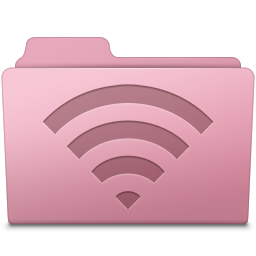 AirPort Folder Sakura icon