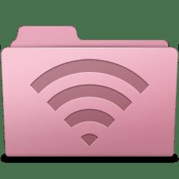 AirPort Folder Sakura icon