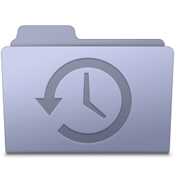 Backup Folder Lavender icon