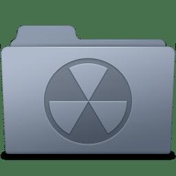 Burnable Folder Graphite icon