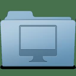 Computer Folder Blue icon