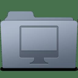 Computer Folder Graphite icon