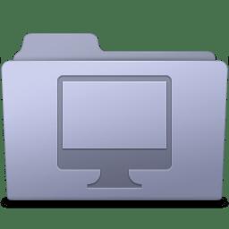 Computer Folder Lavender icon