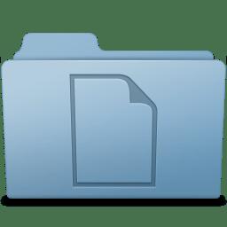 Documents Folder Blue icon