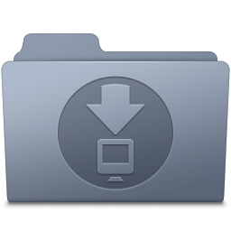 Downloads Folder Graphite icon
