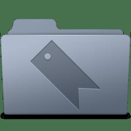 Favorites Folder Graphite icon