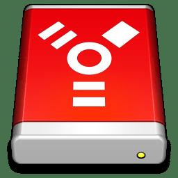 Firewire Drive Red icon