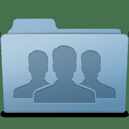Group Folder Blue icon