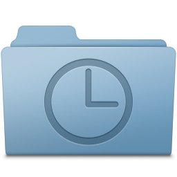 History Folder Blue icon