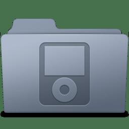 IPod Folder Graphite icon