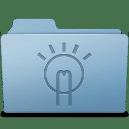 Idea Folder Blue icon