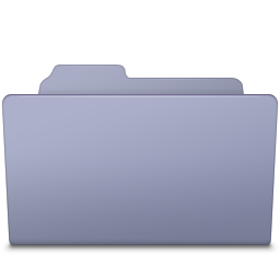 Open Folder Lavender icon