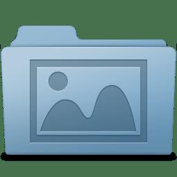 Photo Folder Blue icon