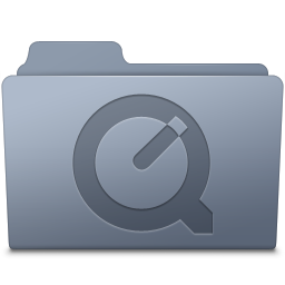 QuickTime Folder Graphite icon
