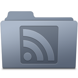 RSS Folder Graphite icon