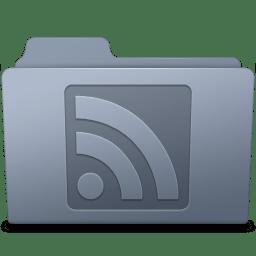RSS Folder Graphite icon