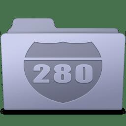 Route Folder Lavender icon