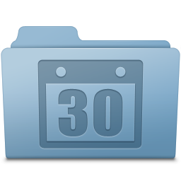 Schedule Folder Blue icon